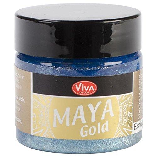 Gold Eis (Viva Decor 50ml Maya Gold Paint, eis Blau)