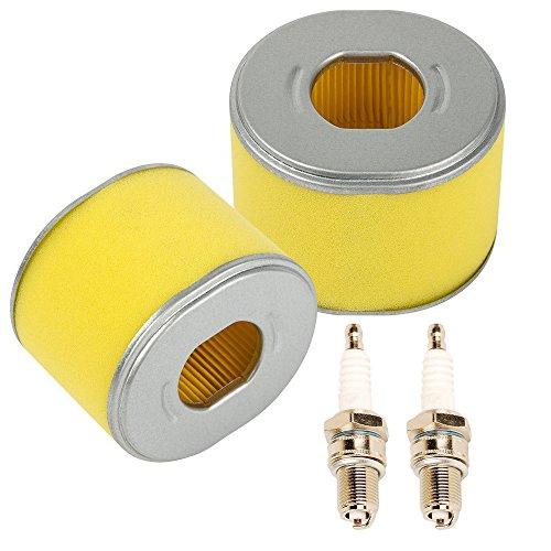 Oxoxo confezione da 2set di ricambio per filtro dell' aria con candela per Honda GX2408HP GX2709HP motore rasaerba Tiller Parts