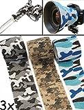 OUTDOOR SAXX® - Camouflage Tarn-Tape | Gewebe-Band wasserfest mehrfach verwendbar | Kamera, Ausrüstung, Jäger, Angler, Fotograf | 4,5m 3er Winter Set