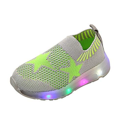 Baby Kleinkind Kinder LED Leuchtschuhe Kinder Baby Schuhe mit Licht LED Leuchtende Mesh Star Blinkende Sneaker Turnschuhe Led Leuchtende Blinkende Turnschuhe für Kinder Heligen
