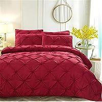 Kotila Luxurious Pinch Pleat Decorative Pintuck Comforter Set