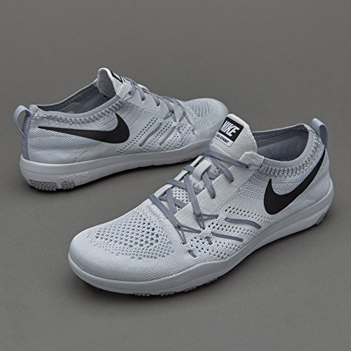 Nike W Free Tr Focus Flyknit, Scarpe da Escursionismo Donna Blanco (Blanco (white/black-wolf grey))