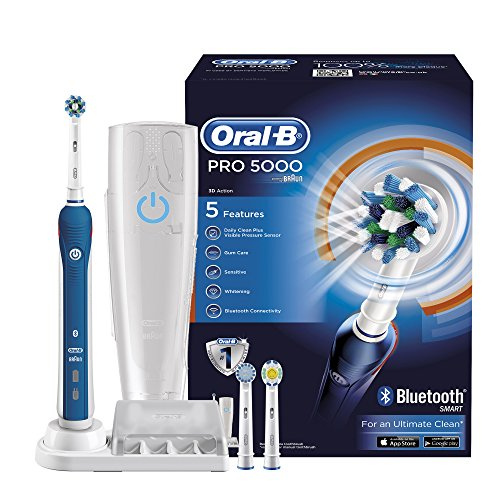 Oral-B Pro 5000 Cross Action Electric Rechargeable Toothbrush with Bluetooth Connectivity Powered by Braun by Oral-B