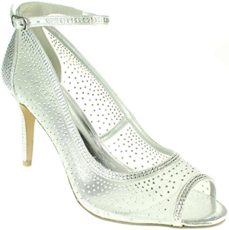 Femmes Dames De DiaFemmete Soir Mariage Fête Bal de De Dames mariée Talon Haut Peep Toe des  s Chaussures TailleB072FRPFT3Parent b08f00