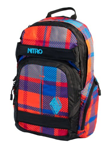 Nitro Rucksack Drifter, plaid red-blue, 46 x 29 x 15 cm, 1131878010 (Plaid-damen-laptop-tasche)