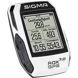 Sigma Sport Rox Gps 7.0 Ciclocomputador bici, Unisex Adulto, Blanco, Talla Única