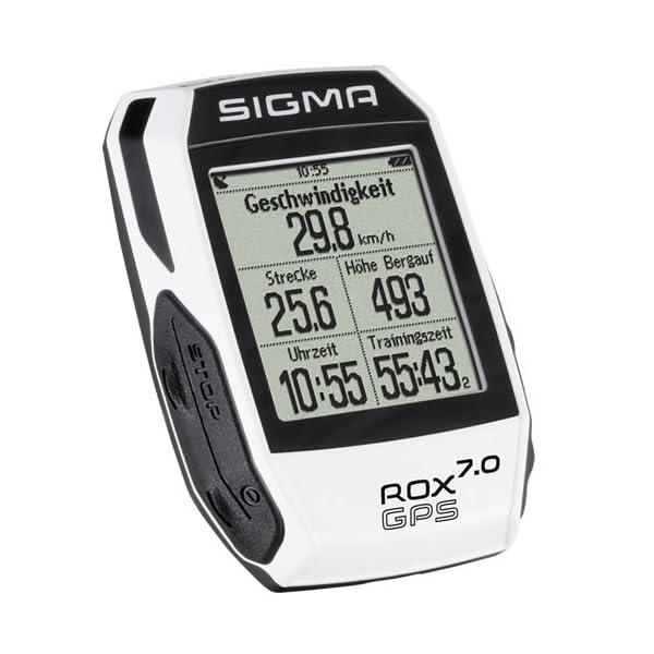 Sigma Sport Fahrrad Computer ROX 7.0 GPS white, Track-Navigation, Grafische Datenauswertung, Strava, Weiß