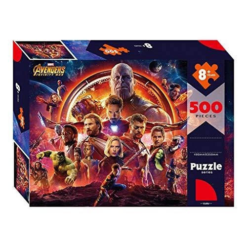 Jigsaw Puzzles WYF Holzpuzzle, 300.500.1000 Teile Marvel Hulk-Filmplakat, Die Rächer Captain America Comics P531 (Color : B) - Teile 300 New York Puzzle