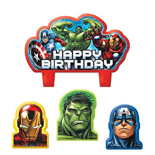 Marvel Avengers Geburtstag Kerze Set (Avengers Dress Up)