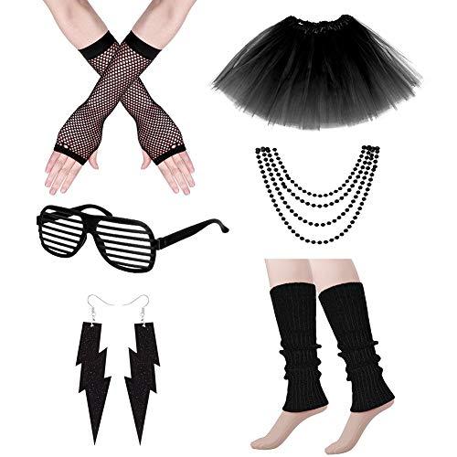Auidy_6TXD - Accesorio disfraz años 80 mujer, collar