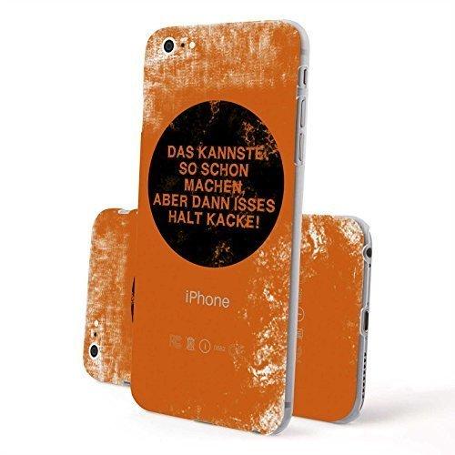 FINOO Trasparente Custodia cellulare Hardcase Citazioni - Casa dolce casa, iPhone 6/6S Plus Si fa così