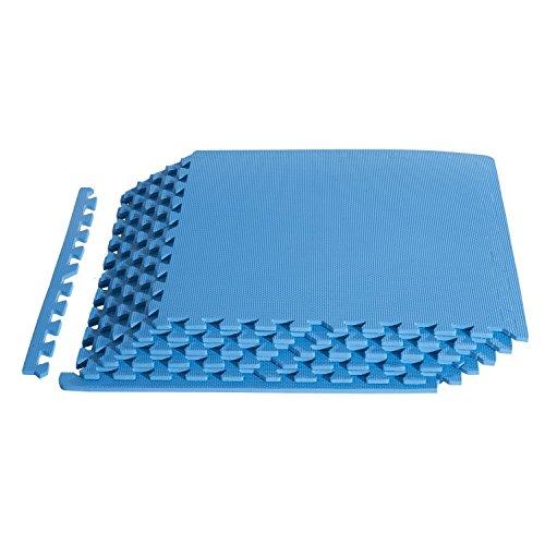 Preisvergleich Produktbild Homcom A93-004BU - Puzzlematte Bodenschutzmatte Turnmatte EVA, 16 teilig