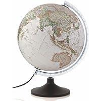 National Geographic - Globo terráqueo de plástico, iluminado, en castellano, 30 cm, color sepia (Mapiberia Carbon Executive)