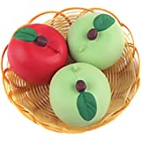 REALACC Apple Kawaii Soft Squishy Fruit Fun Toys, 5cm, 1pc