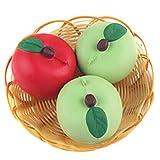 REALACC 5CM Apple Kawaii Squishy Fruit Fun Toys Soft Gift Cafe Decoration