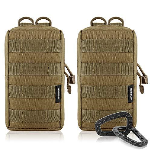 Airsson Molle Klein Tasche Taktische Gürtel Tasche Beutel Pouch Wanderausrüstung 1000D Nylon (Kalk Tasche Von)