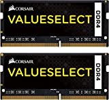 Corsair CMSO16GX4M2A2133C15 Value Select 16 GB DDR4 2133 Mhz CL 15 260 Pin SODIMM Laptop Memory Kit - Black