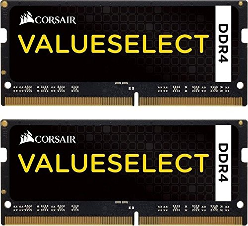 Corsair CMSO16GX4M2A2133C15 Value Select 16GB (2x8GB) DDR4 2133Mhz CL15 260pin SODIMM Laptop Memory Schwarz