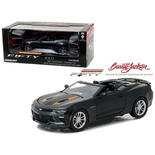 "2017 Chevrolet Camaro Convertible [Greenlight 18232], ""Barrett-Jackson Palm Beach 2016"", 1:24 Die Cast"