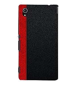 PrintVisa Red Stripes Design 3D Hard Polycarbonate Designer Back Case Cover for Sony Xperia M4 Aqua