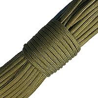 Paracord 550 100 ft - 30 m - ideale per l'esterno, il campeggio, il giardino o per intrecciare braccialetti - acquista subito!