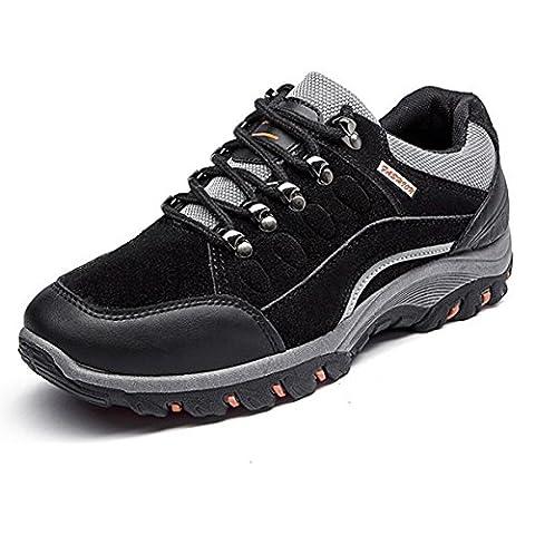 CHAUSSURES Randonée pour Homme Femme, Gracosy Chassures de Training en Cuir Suède Multisport Outdoor Sneaker Chaussures de ville Randonée en montagne - Noir (Tableau de poiture à voir)
