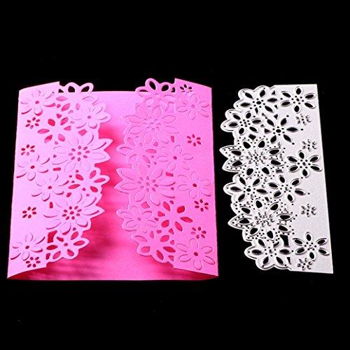 FNKDOR Scrapbooking Stanzschablone Prägeschablonen Stanzmaschine Stanzformen Schablonen, für Sizzix Big Shot und Andere Prägemaschine (E)