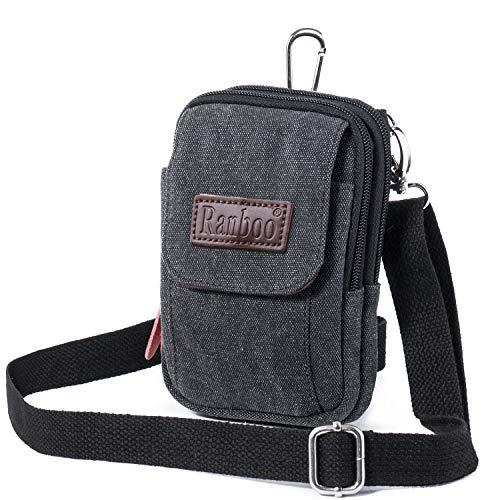 61cb9f46e9 Men Bag Shoulder Bag Canvas Cross Body Bag Universal Phone Bag Holder Purse  Belt Clip Pouch