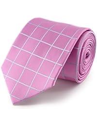 cravate quadrillage rose