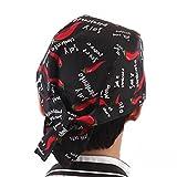 LEORX Chefs sombrero tapa del cráneo gorro turbante de Catering para la cocina (patrón de...
