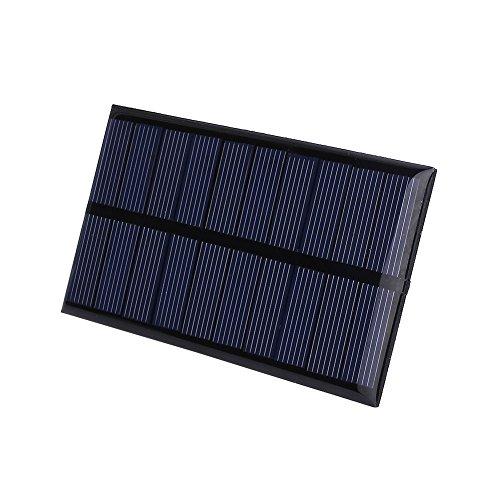 Especificaciones:  Color: Negro  Aspecto Material: Resina  Tensión de funcionamiento: DC 5V  Potencia máxima: corriente 1w  de funcionamiento: 0-100mA  Solar especificaciones del panel: polisilicio  tamaño del producto: 11 * 6 * 0.3cm  característic...