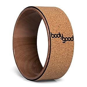 BodyGood – Cork Yoga Rad – 33cm – Professionelles Yogarad – Dharma Yoga Stütze unterstützt bis zu 225kg. Verbessern Sie Ihre Rückenbeugung, Tiefentraining oder lösen Sie Ihre Tiefenmuskulatur