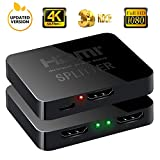 HDMI Splitter 1 in 2 out 4 K * 2 K Active amplificatore supporto 3D Full HD 1080p 1 x 2 HDMI Switch adattatore convertitore per Mac HDTV Blue-Ray Play DVD DVR Xbox PS3 PS4