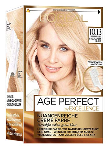 L\'Oréal Paris Excellence Age Perfect 10.13 sehr helles strahlendes blond 1er Pack (1 x 1 Stück)