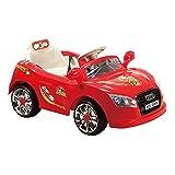 Elektro Kinderauto A018 mit Fernbedienung 6V, Einsitzer mit Licht und Musik (Rot)
