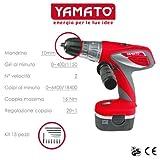 YAMATO Trapano Avvitatore A Percussione 14,4 Volt Con 2 Batterie Incluse