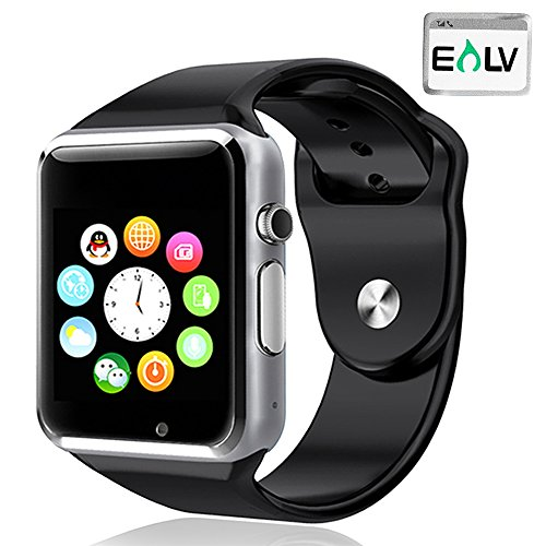 Smart Watch, E LV High Quality Touch Screen Bluetooth Smart Wrist Watch with Camera & SIM Card Slot For Apple iPhone IOS, Android Smartphones Samsung,HTC,Blackberry and more - BLACK