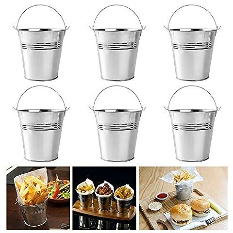 ounona Servieren Buckets Mini Metall Eimer Set von 610,5x 7,2x 10,5cm