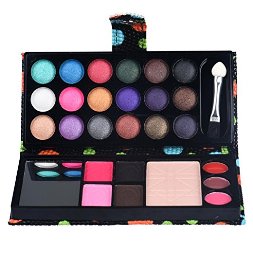 OverDose 26 Farben Augenschatten Make-up Palette Kosmetische Lidschatten Blush Lip Gloss Powder Eye Shadow Makeup Palette Cosmetic Eyeshadow Blush Lip Gloss Powder Schwarz (Katzen In Lustigen Kostümen)