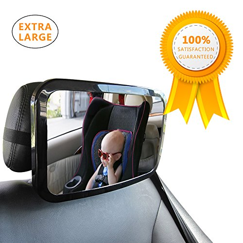 LifenC Baby Car Mirror, EXTRA-LARGE, BEST Back