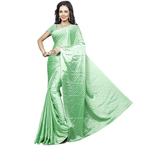 Sonika Brasso Saree (Cnn009_Light Green)