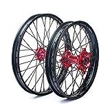 TARAZON Supermoto Radsatz Rad Felgen wheels Radnabe Set 1,6x21 Vorderrad + 2,15x19 Hinterrad für Honda CR 125 250 R 02-13 CRF 250 450 R X 04-14