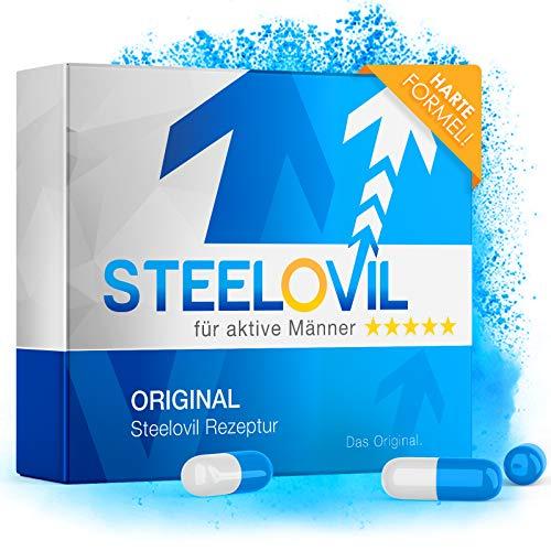 NEU: STEELOVIL - Natürliches Potenzmittel mit Sofortwirkung - 12 St. 200mg Kapseln - Für Aktive Männer - Verpackung Neutral