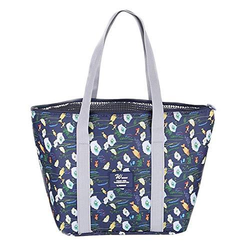 Skxinn Lunch Tasche/Lunchpaket Kühltasche Kühlbox Isoliertasche Lunchtasche Mittagessen Tasche Picknicktasche für Lebensmitteltransport Arbeit Picknick(D,25cm(L) x12cm(W) x25cm(H))