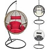 Yopih cocoon fauteuil suspendu en rotin et osier avec - Hamac fauteuil suspendu avec support ...