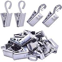 Silber Vorhanghaken mit Clip Metallklammern f/ür Gardinen /& Vorh/änge