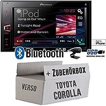 Toyota Corolla Verso silber - Pioneer MVH-AV280BT - 2DIN USB Bluetooth Touch - Autoradio - Einbauset