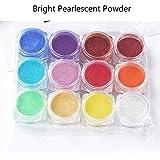 FURU Resina UV, resina epoxi artesanal, materiales, 12 colores, polvo de purpurina, resina epoxi, pigmento de perla, polvo de mina de brillo natural 1