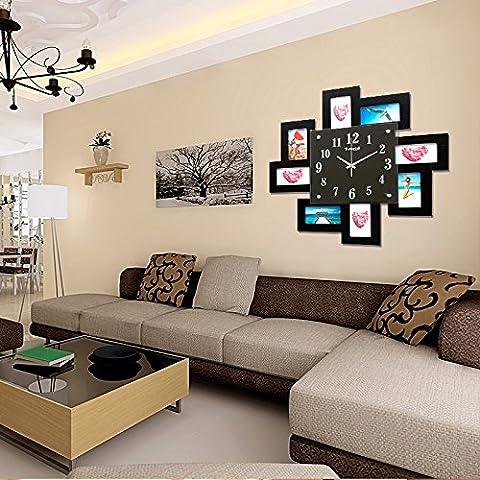 bi reloj de pared Creativo foto foto marco reloj moda simple living comedor dormitorio oficina pared relojes de pared reloj 50 cm * 50 cm de la pared