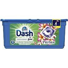 Dash 2en1 Perles Lessive en Capsules Fleurs de Frangipanier & Mandarinier 30Lavages